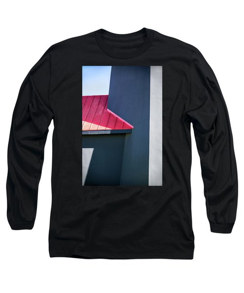 Tybee Building Abstract Long Sleeve T-Shirt