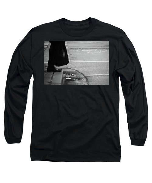 U Stopped Me On My Tracks  Long Sleeve T-Shirt by Empty Wall