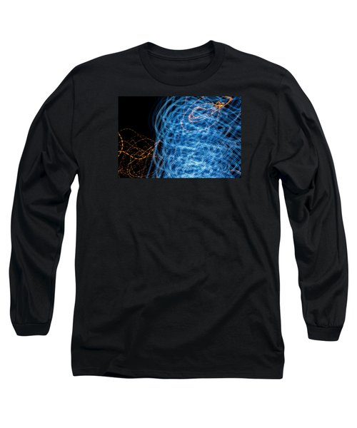 Ufa Neon Abstract Light Painting Sodium #7 Long Sleeve T-Shirt