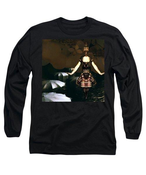 Long Sleeve T-Shirt featuring the digital art Umbrella Dance by Delight Worthyn
