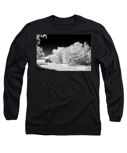 Under A Dark Sky Long Sleeve T-Shirt by Dan Jurak