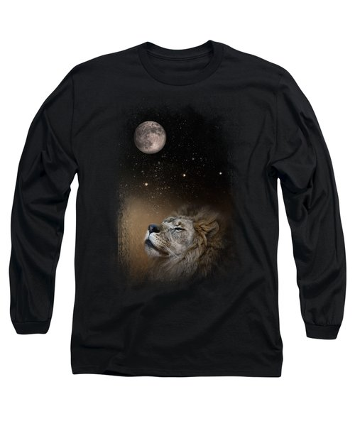 Under The Moon And Stars Long Sleeve T-Shirt by Jai Johnson