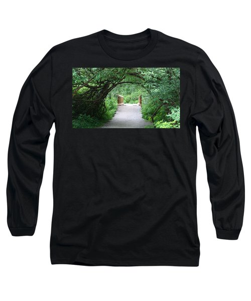 Long Sleeve T-Shirt featuring the painting Under The Tunnel by Rod Jellison