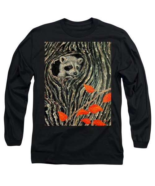 Long Sleeve T-Shirt featuring the painting Unexpected Visitor by Susan DeLain