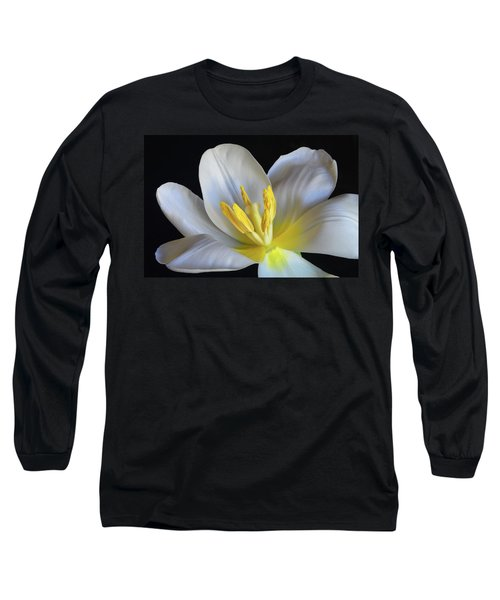 Unfolding Tulip. Long Sleeve T-Shirt by Terence Davis