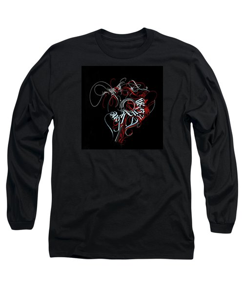 Union. Calligraphic Abstract Long Sleeve T-Shirt