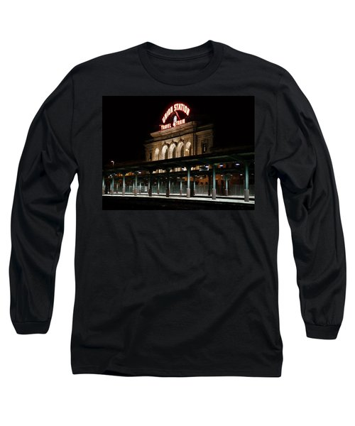 Union Station Denver Colorado Long Sleeve T-Shirt by Ken Smith