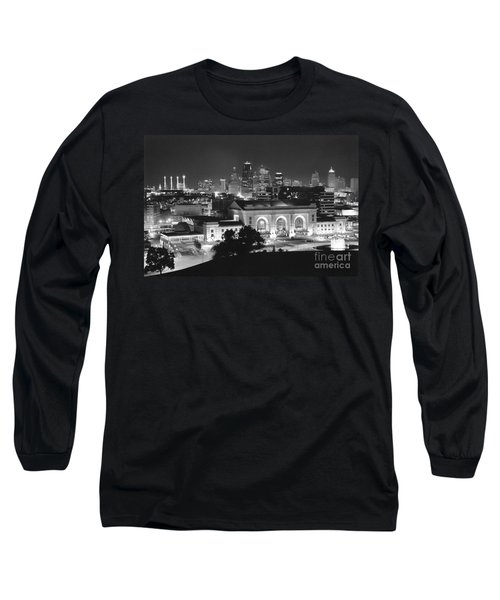 Union Station In Black And White Long Sleeve T-Shirt