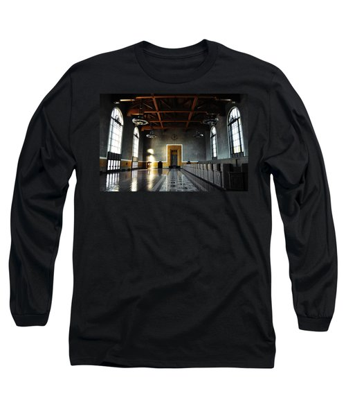 Long Sleeve T-Shirt featuring the photograph Union Station Los Angeles by Kyle Hanson