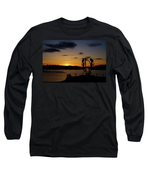 United In Celebration Sculpture At Sunset 6 Long Sleeve T-Shirt by John McArthur