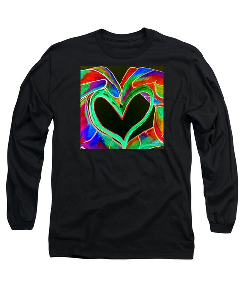 Universal Sign For Love Long Sleeve T-Shirt by Eloise Schneider