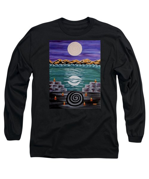 Long Sleeve T-Shirt featuring the painting Unthought Known by Carolyn Cable