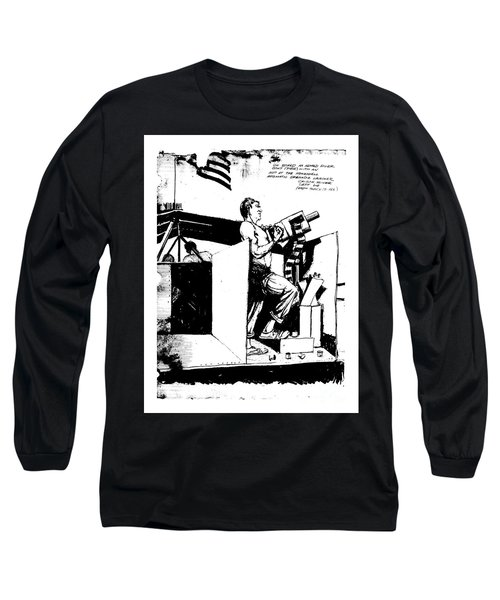 Long Sleeve T-Shirt featuring the drawing Untitled by Bob George