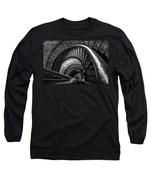 Unwind  - Currituck Lighthouse Long Sleeve T-Shirt by David Sutton