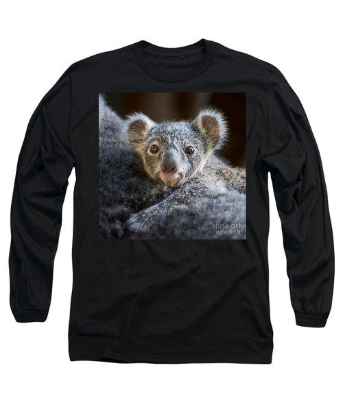Up Close Koala Joey Long Sleeve T-Shirt by Jamie Pham