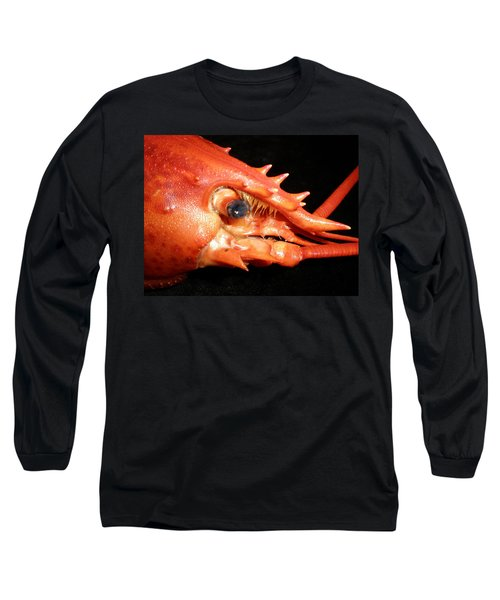 Up Close Lobster Long Sleeve T-Shirt by Patricia Piffath