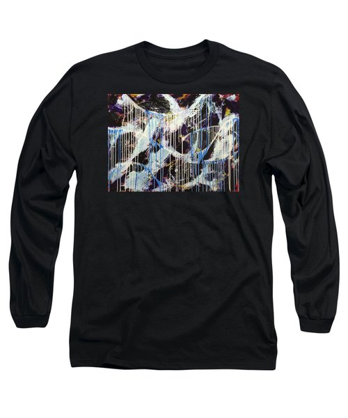 Long Sleeve T-Shirt featuring the painting Up In The Air by Sheila Mcdonald