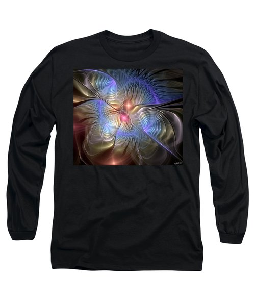 Upon The Wings Of Music Long Sleeve T-Shirt by Casey Kotas