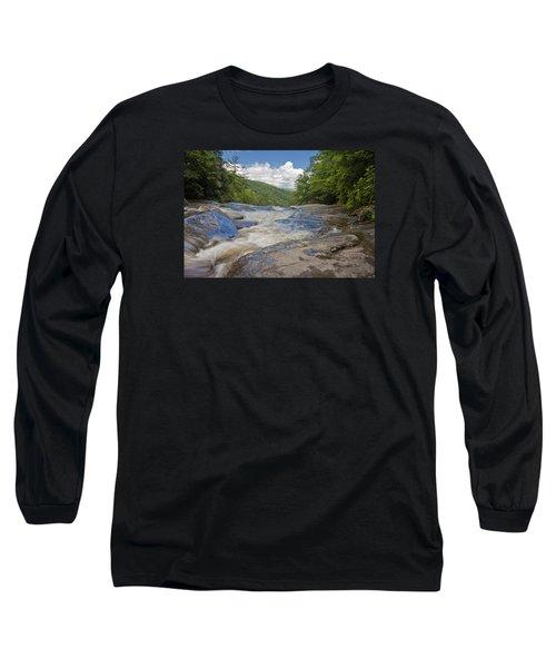 Upper Creek Waterfalls Long Sleeve T-Shirt