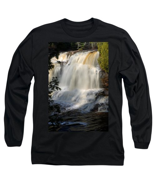 Upper Falls Gooseberry River 2 Long Sleeve T-Shirt