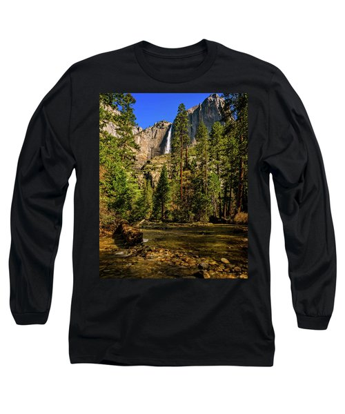 Upper Yosemite Falls From Yosemite Creek Long Sleeve T-Shirt
