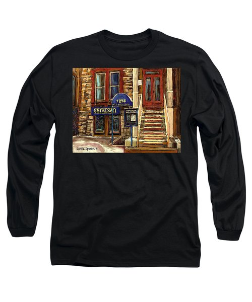 Upstairs Jazz Bar And Grill Montreal Long Sleeve T-Shirt