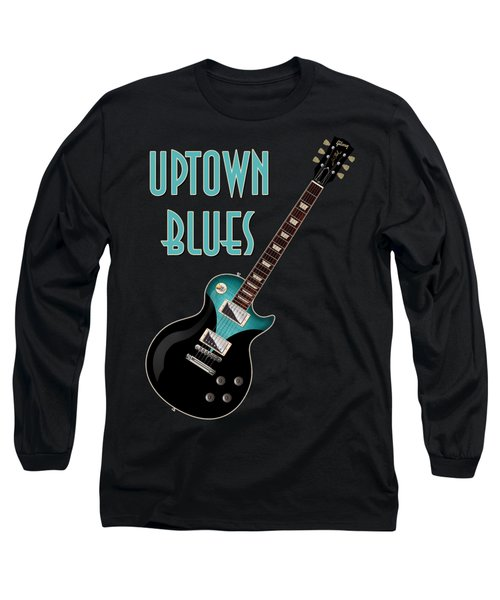 Uptown Blues T-shirt Long Sleeve T-Shirt by WB Johnston