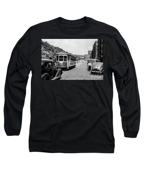Uptown Trolley Near 193rd Street Long Sleeve T-Shirt