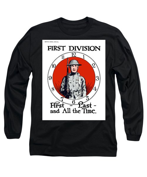 Us Army First Division - Ww1 Long Sleeve T-Shirt