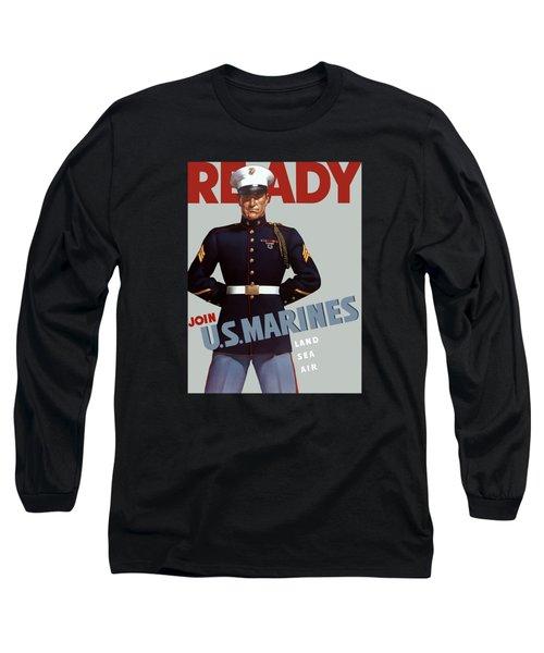 Us Marines - Ready Long Sleeve T-Shirt