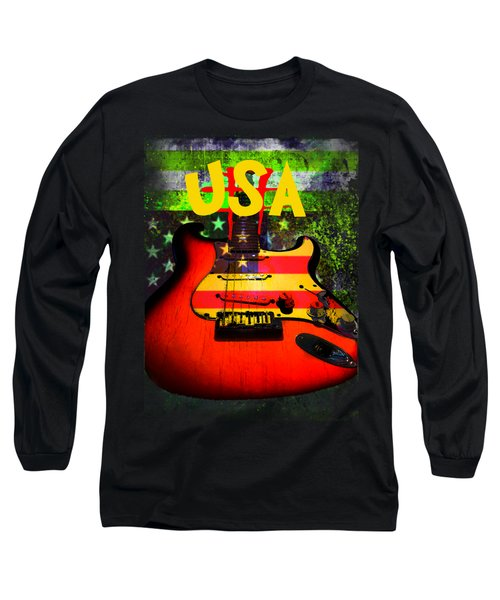 Usa Guitar Music Long Sleeve T-Shirt