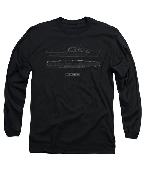 Uss Lexington Long Sleeve T-Shirt by DB Artist