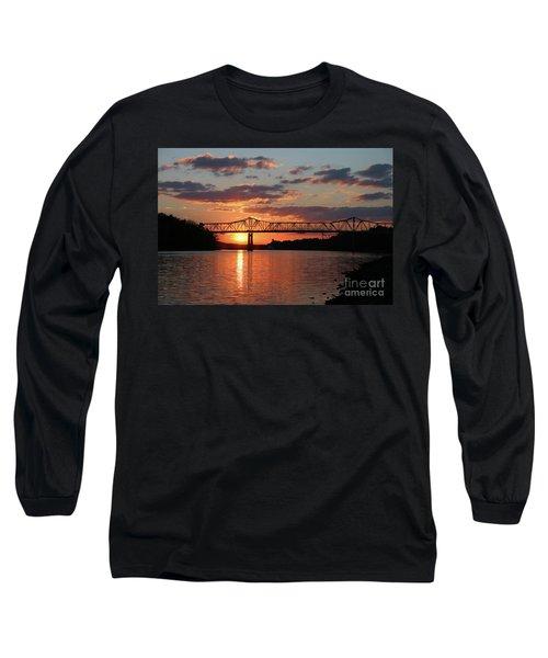 Utica Bridge At Sunset Long Sleeve T-Shirt