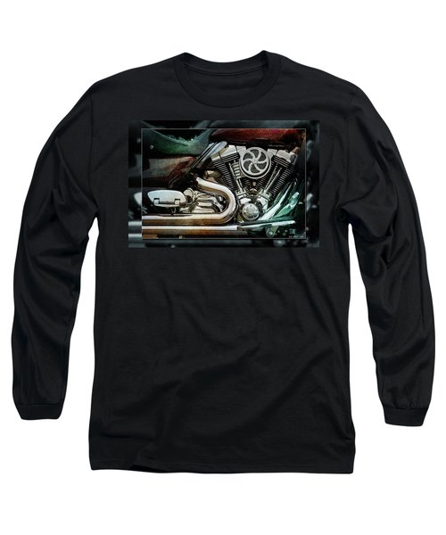 Long Sleeve T-Shirt featuring the photograph V Twin by WB Johnston