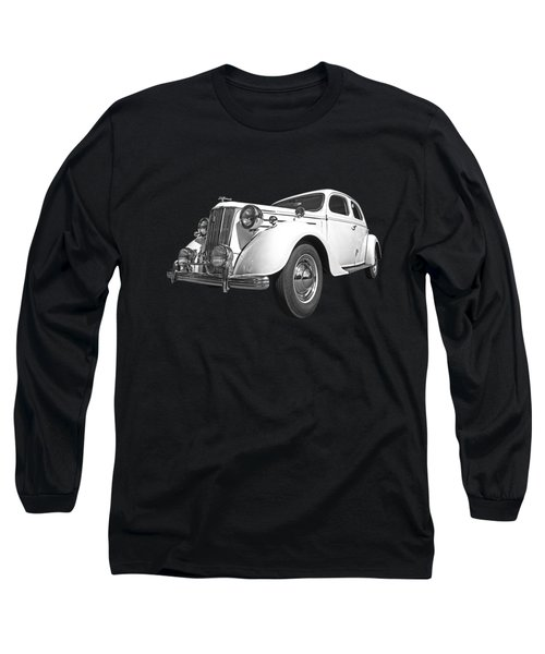 V8 Pilot In Black And White Long Sleeve T-Shirt