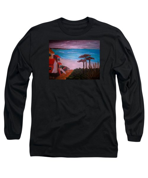 Long Sleeve T-Shirt featuring the painting On Vacation by Pristine Cartera Turkus