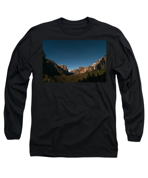 Valley View By Moon Light Long Sleeve T-Shirt