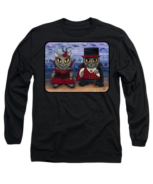 Vampire Cat Couple Long Sleeve T-Shirt