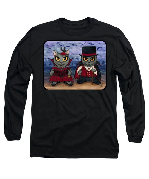 Vampire Cat Couple Long Sleeve T-Shirt