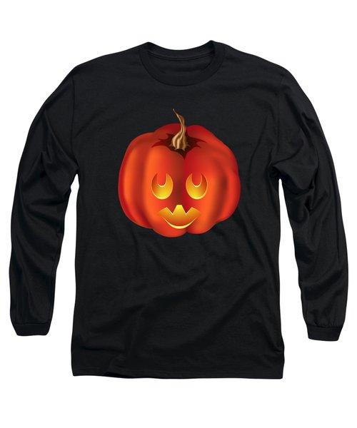 Vampire Halloween Pumpkin Long Sleeve T-Shirt