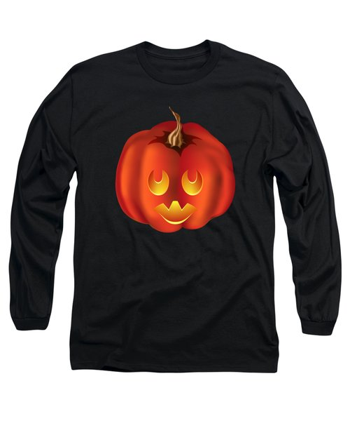 Vampire Halloween Pumpkin Long Sleeve T-Shirt