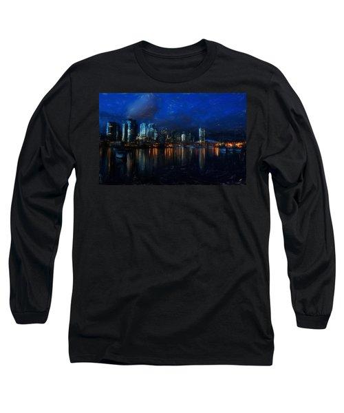 Vancouver At Dusk Long Sleeve T-Shirt