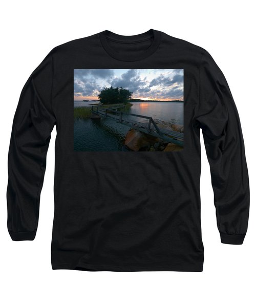 Long Sleeve T-Shirt featuring the photograph Variations Of Sunsets At Gulf Of Bothnia 6 by Jouko Lehto