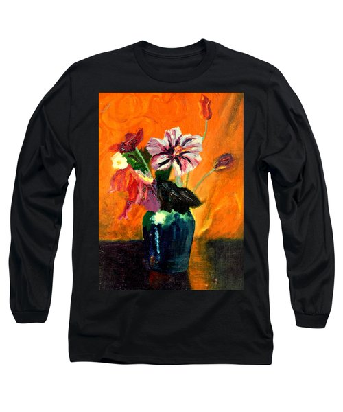 Vase With Flowers Long Sleeve T-Shirt