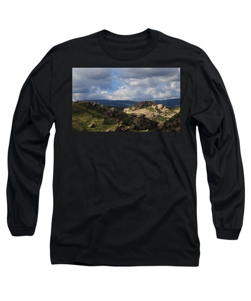 Long Sleeve T-Shirt featuring the photograph Vasquez Rocks Natural Area by Viktor Savchenko