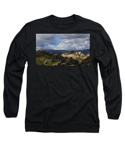 Vasquez Rocks Natural Area Long Sleeve T-Shirt by Viktor Savchenko