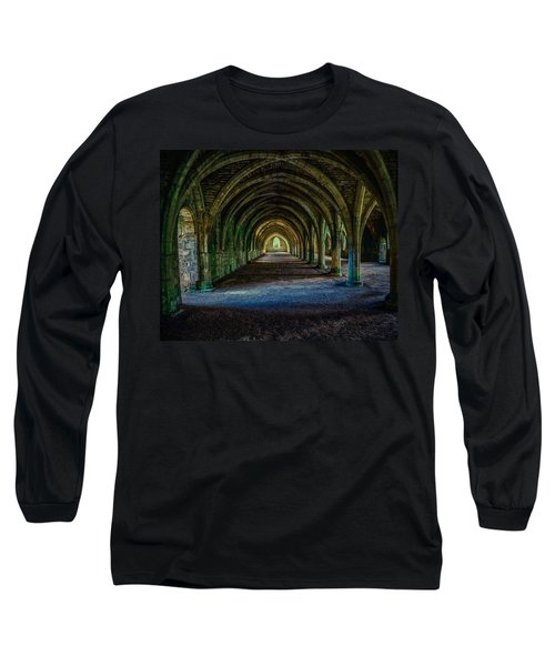 Vaulted, Fountains Abbey, Yorkshire, United Kingdom Long Sleeve T-Shirt