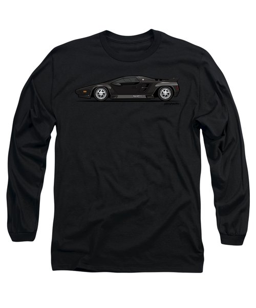 Vector W8 Twin Turbo Black Long Sleeve T-Shirt