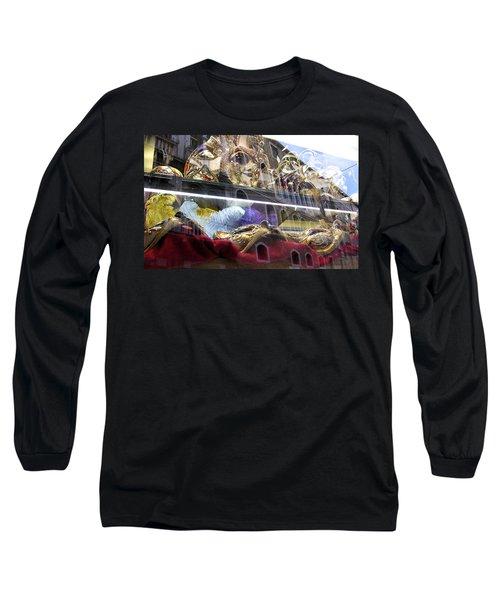 Venetian Carnival Reflections Long Sleeve T-Shirt