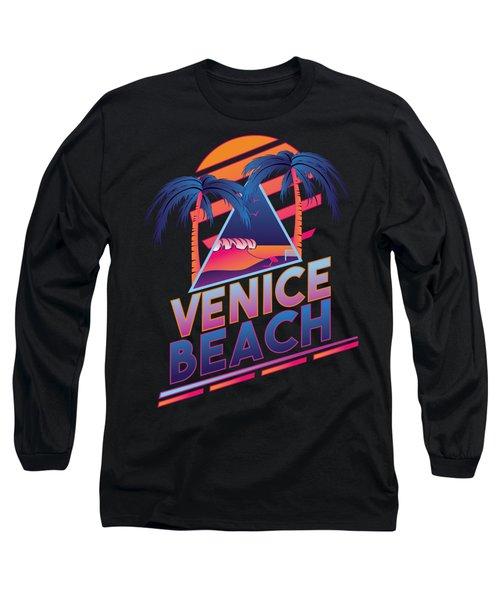 Venice Beach 80's Style Long Sleeve T-Shirt